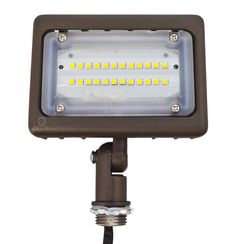 LED Flood Light - 15W - Landscape Lighting - (UL+DLC) - 5 Year Warranty - Green Light Depot