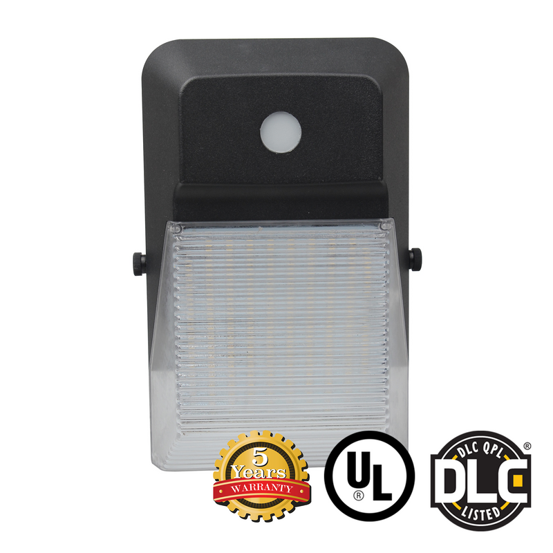 20W Mini LED Wall Pack Light - With Photocell - (UL + DLC) - Green Light Depot