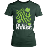 Nurse - Don't Kiss Me - District Made Womens Shirt / Forest Green / S - 4