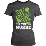 Nurse - Don't Kiss Me - District Made Womens Shirt / Charcoal / S - 7