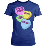 Librarian - Candy Hearts Readers - District Made Womens Shirt / Royal / S - 12