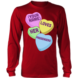 School Bus Driver - Candy Hearts - District Long Sleeve / Red / S - 7