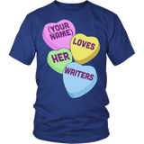 English - Candy Hearts - District Unisex Shirt / Royal Blue / S - 2