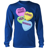 Librarian - Candy Hearts Readers - District Long Sleeve / Royal Blue / S - 6