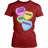 Librarian - Candy Hearts Readers - District Made Womens Shirt / Red / S - 14