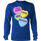 English - Candy Hearts - District Long Sleeve / Royal Blue / S - 6