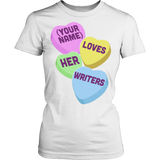 English - Candy Hearts - District Made Womens Shirt / White / S - 13