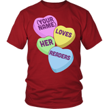 Librarian - Candy Hearts Readers - District Unisex Shirt / Red / S - 3