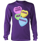 Librarian - Candy Hearts Readers - District Long Sleeve / Purple / S - 8