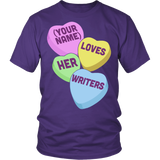English - Candy Hearts - District Unisex Shirt / Purple / S - 4