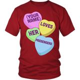 School Bus Driver - Candy Hearts - District Unisex Shirt / Red / S - 3