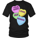 Librarian - Candy Hearts Readers - District Unisex Shirt / Black / S - 5