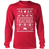 Elementary - Ugly Sweater - District Long Sleeve / Red / S - 1