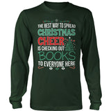 Librarian - Christmas Cheer - District Long Sleeve / Dark Green / S - 10