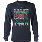 Librarian - Christmas Cheer - District Long Sleeve / Navy / S - 8