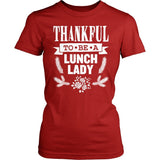 Lunch Lady - Thankful - District Made Womens Shirt / Red / S - 5