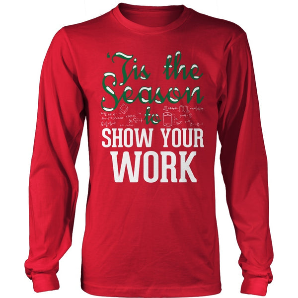 Math - 'Tis the Season - District Long Sleeve / Red / S - 1