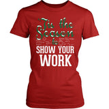 Math - 'Tis the Season - District Made Womens Shirt / Red / S - 8