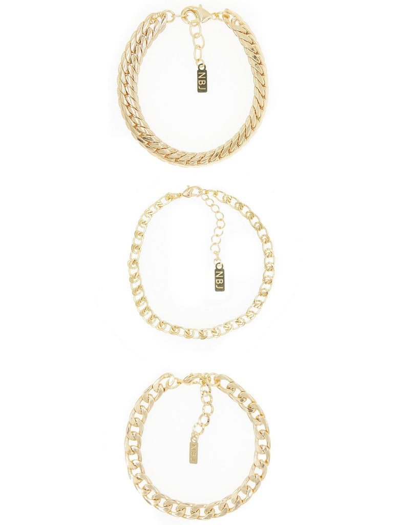 Tre Catena Bracelet Set, As Seen On Kylie Jenner