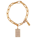 Gold Bar Reversible Link Bracelet