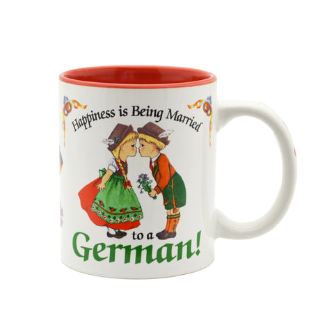 """Happiness is being Married to a German"" German Gift Mug - 4  - OktoberfestHaus.com"