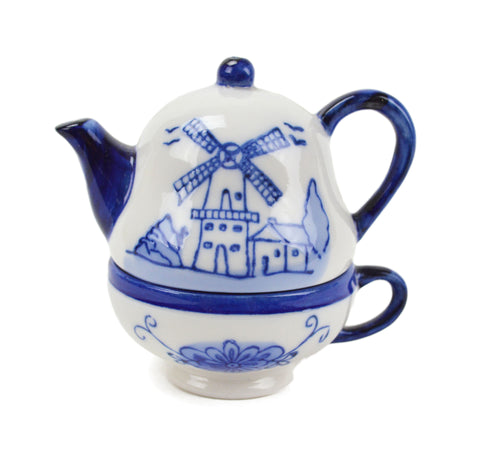 Ceramic Salt and Pepper Shakers: Tea Cup/Pot - OktoberfestHaus.com  - 2