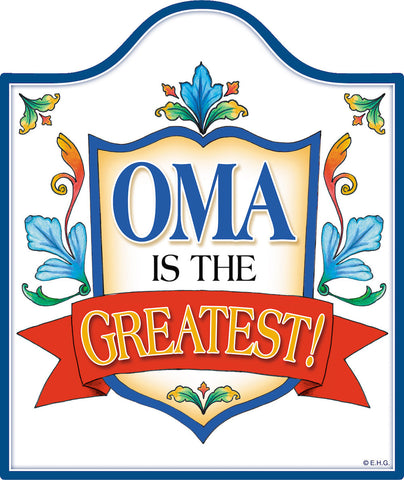 Decorative Ceramic Cheeseboard: Oma Is the Greatest - DutchNovelties  - 1