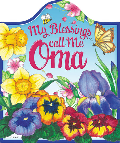 Oma's Blessings Cork Backed Ceramic Cheeseboard - DutchNovelties