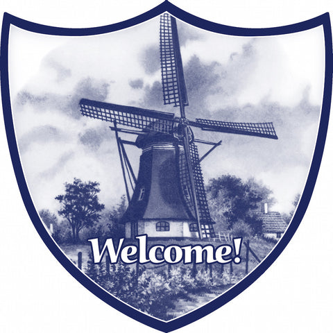 Ceramic Wall Decor: Windmill - DutchNovelties  - 1