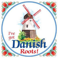 Danish Gift Idea Tile Danish Roots.. - DutchNovelties  - 1