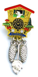 Austrian Hat Pin: Cuckoo Clock - DutchNovelties - 2