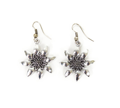 Edelweiss Earrings for German Costume - DutchNovelties