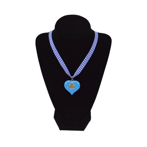Edelweiss Blue Heart Necklace - DutchNovelties