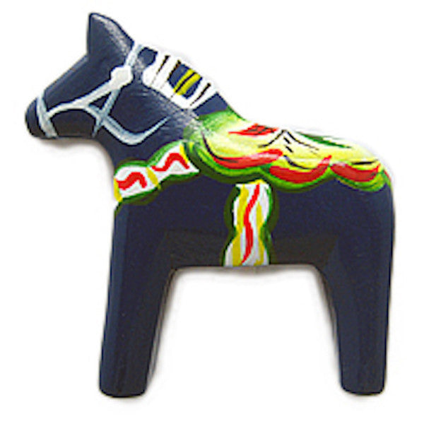 Swedish Horse Kitchen Unique Magnet Gift Blue - DutchNovelties  - 1