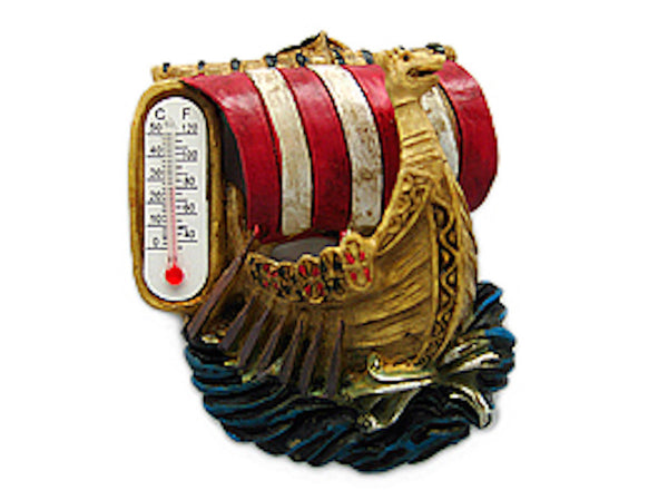 Vikings Gift Magnet Ship with Thermometer - DutchNovelties  - 1