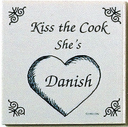 Danish Culture Magnetic Tile (Kiss Danish Cook) - DutchNovelties  - 1