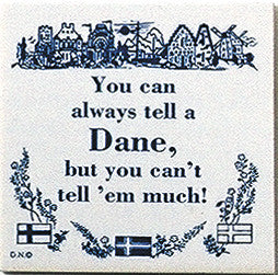Danish Culture Magnetic Tile (Tell A Dane) - DutchNovelties  - 1