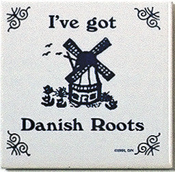 Danish Culture Magnetic Tile (Danish Roots) - DutchNovelties  - 1