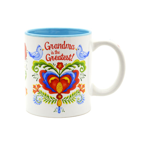 """Grandma is the Greatest"" / Bird Design Coffee Mug - ScandinavianGiftOutlet"