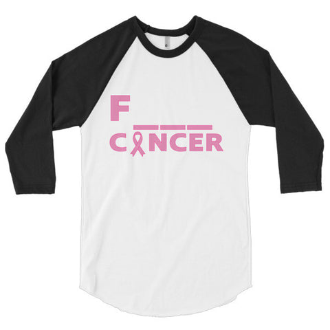 Breast Cancer - Unisex 3/4 Sleeve Raglan
