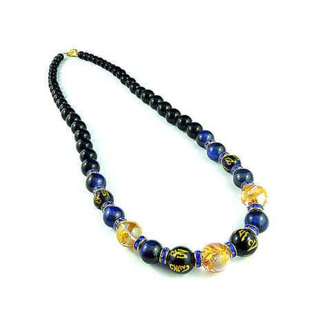 Yakuza Royal Blue Gold Dragon Necklace