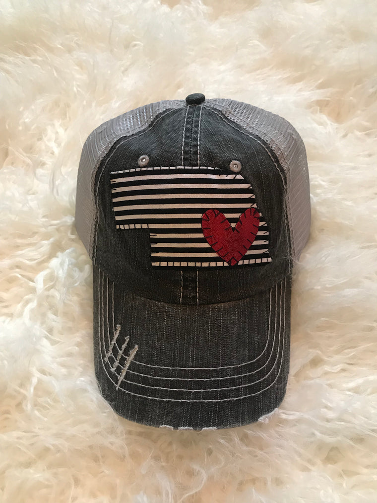 STRIPE STATE TRUCKER HAT