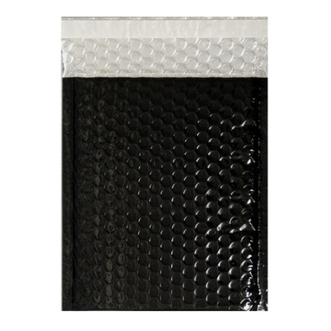 Black Gloss Metallic Bubble Bags - Envelope Kings