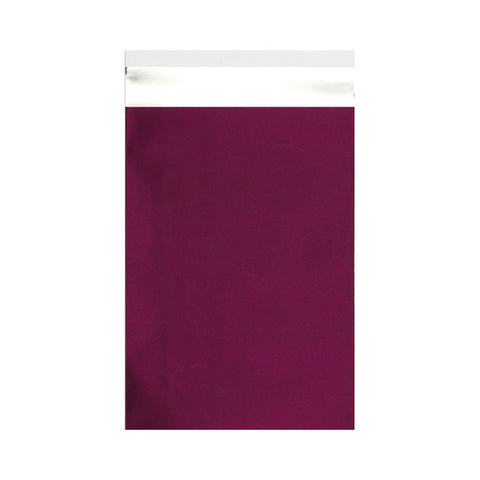 Burgundy Matt Metallic Foil Bags - Envelope Kings