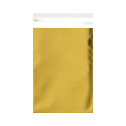 Gold Matt Metallic Foil Bags Pocket Peel and Seal - Envelope Kings
