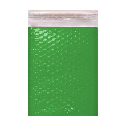 Green Gloss Poly Bubble Bags Pocket Peel and Seal - Envelope Kings