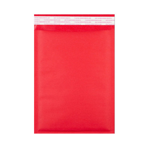 Red Kraft Bubble Bags Pocket Peel and Seal - Envelope Kings
