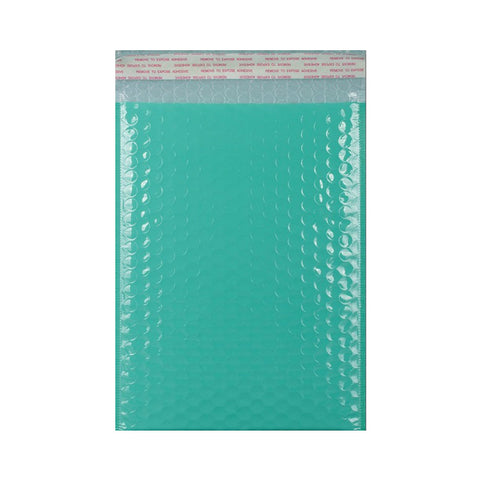 Robin Egg Blue Gloss Poly Bubble Bags - Envelope Kings