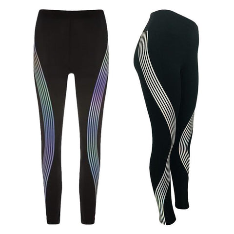 Image of Infinity Laser Stripe Glow Leggings    * LIMITED EDITION *