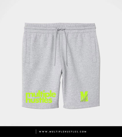 MH Grey/LimeGreen Sweatshorts